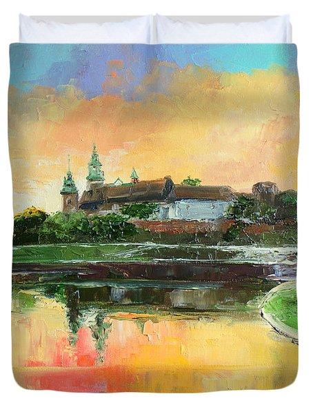Krakow - Wawel Castle Duvet Cover