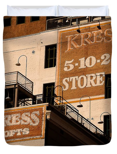 Kress Ghost Signs By Denise Dube Duvet Cover