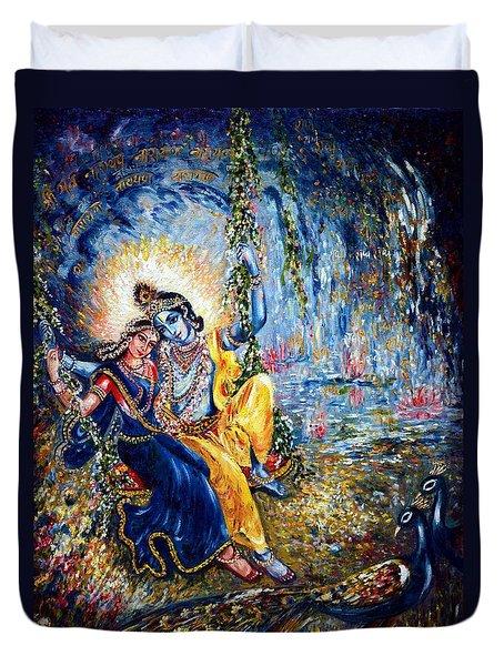 Krishna Leela Duvet Cover