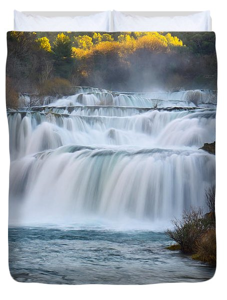 Krka Waterfalls Duvet Cover