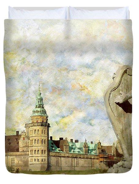 Kronborg Castle Duvet Cover by Catf