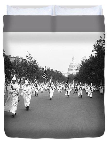 Ku Klux Klan Parade Duvet Cover