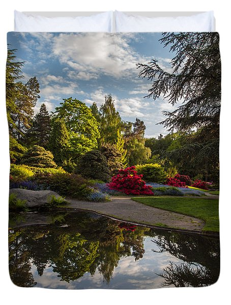 Kubotas Garden Vision Duvet Cover by Mike Reid