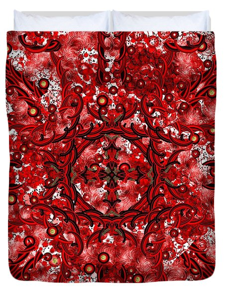 Kundalini Energy Duvet Cover by Barbara Chichester