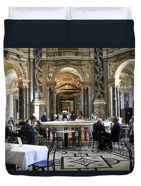 At The Kunsthistorische Museum Cafe II Duvet Cover