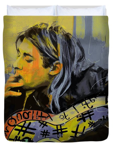 Kurt Cobain Duvet Cover by Corporate Art Task Force