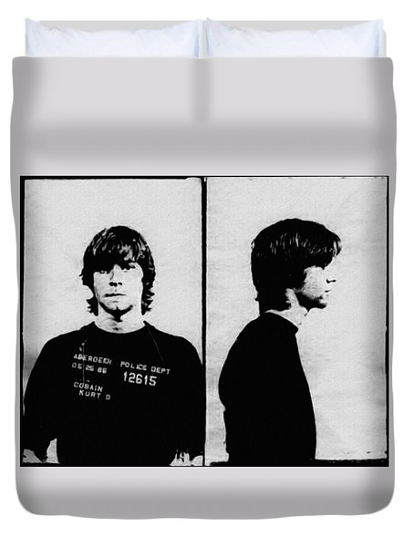 Kurt Cobain Mugshot Duvet Cover