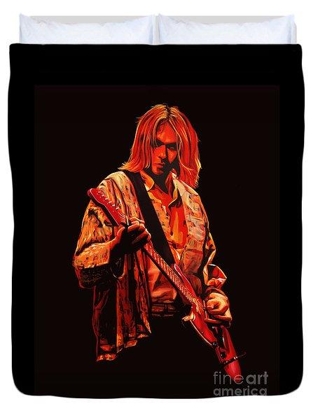 Kurt Cobain Painting Duvet Cover by Paul Meijering