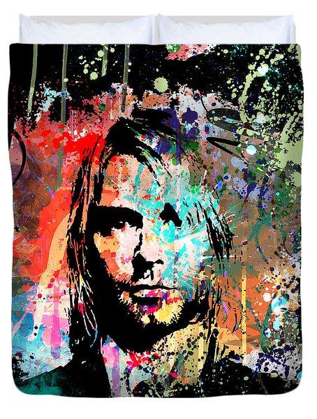 Kurt Cobain Portrait Duvet Cover