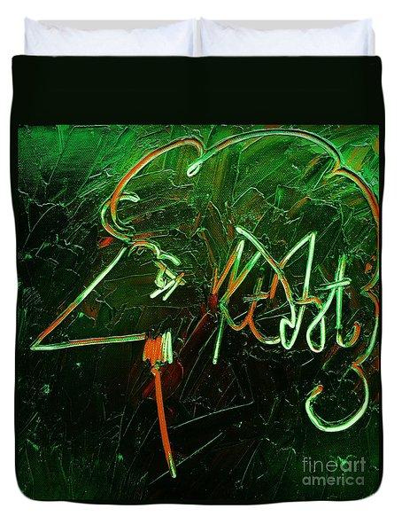 Kurt Vonnegut Duvet Cover by Michael Kulick