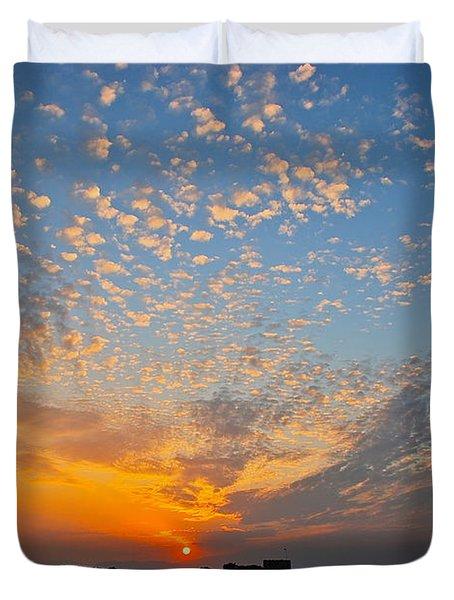 Kusadasi Sunset Duvet Cover by Eric Tressler