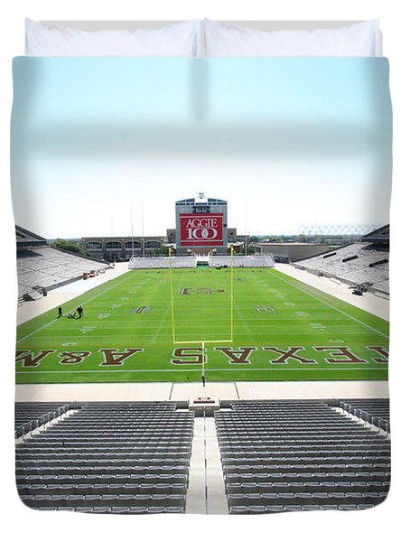 Kyle Field Duvet Cover by Georgia Fowler