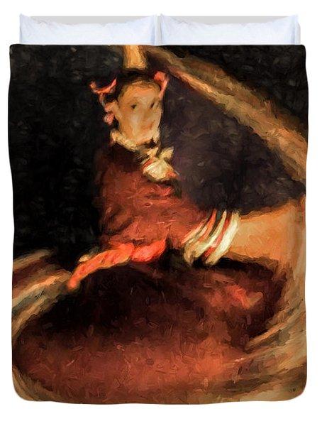 Duvet Cover featuring the photograph La Bailador No. 3  ... by Chuck Caramella