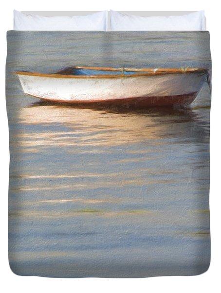 La Barque Au Crepuscule Duvet Cover