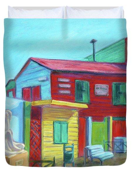 La Boca Morning I Duvet Cover by Xueling Zou