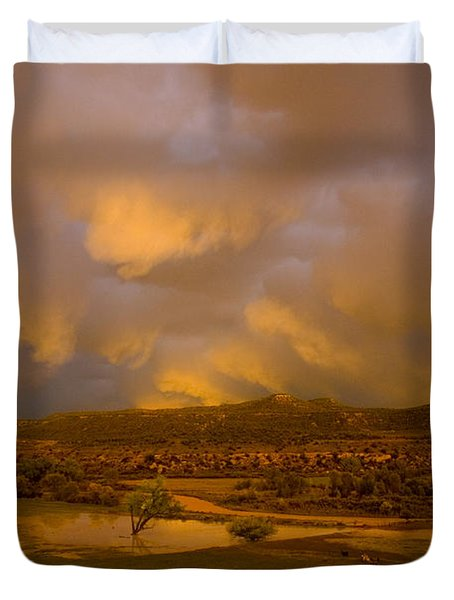La Boca Rain Duvet Cover by Jerry McElroy