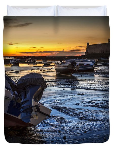 La Caleta Beach Cadiz Spain Duvet Cover