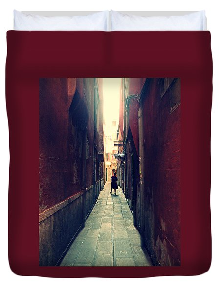 Duvet Cover featuring the photograph La Cameriera  by Micki Findlay