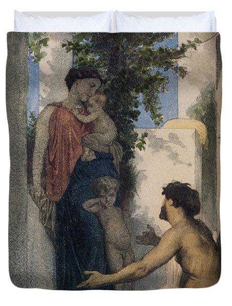 La Charite Romaine Duvet Cover by William Bouguereau