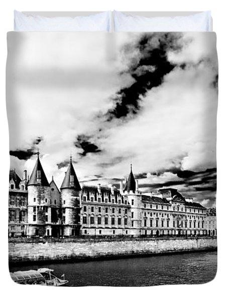 Duvet Cover featuring the photograph La Conciergerie / Paris by Barry O Carroll