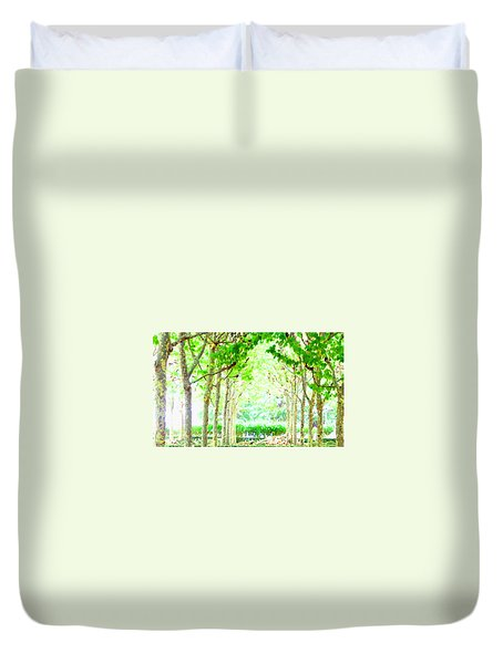 La Defense Platanuses Duvet Cover
