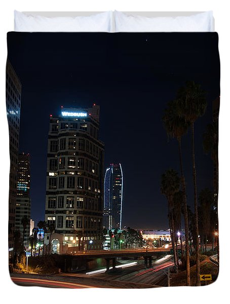 La Down Town 2 Duvet Cover by Gandz Photography