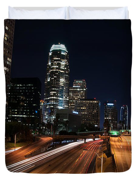 La Down Town Duvet Cover by Gandz Photography