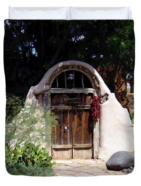 La Entrada A La Casa Vieja De Mesilla Duvet Cover by Kurt Van Wagner