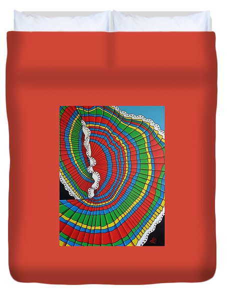 Duvet Cover featuring the painting La Falda Girando - The Spinning Skirt by Katherine Young-Beck
