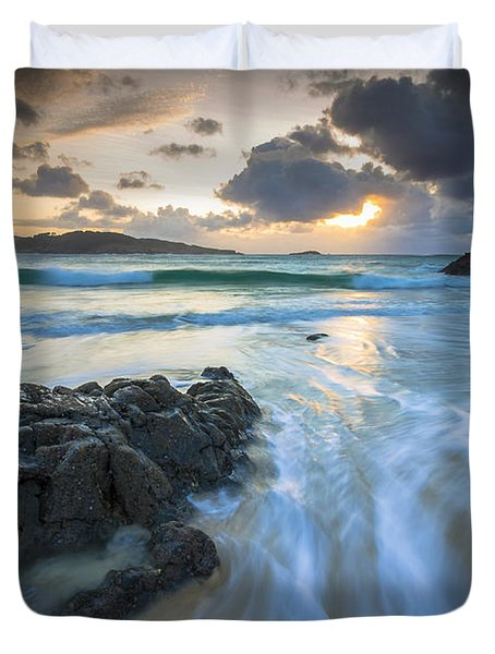 La Fragata Beach Galicia Spain Duvet Cover by Pablo Avanzini