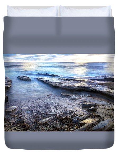 La Jolla Blue Water Duvet Cover
