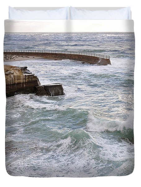 Duvet Cover featuring the photograph La Jolla Ca by Gandz Photography