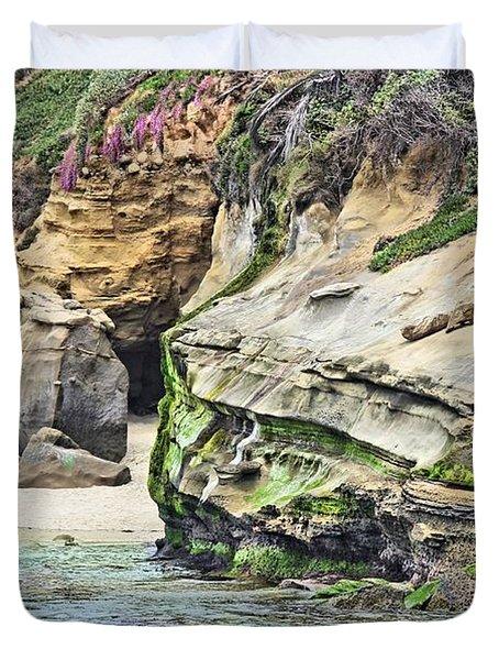 La Jolla Cliffs Duvet Cover