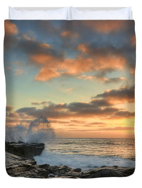 La Jolla Cove At Sunset Duvet Cover