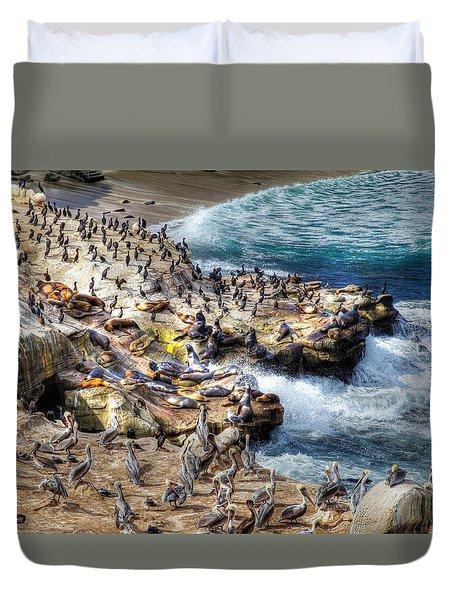 La Jolla Cove Wildlife Duvet Cover