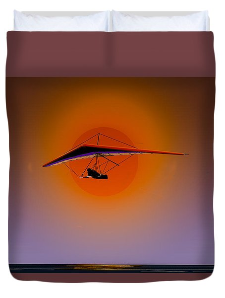 La Jolla Evening Duvet Cover