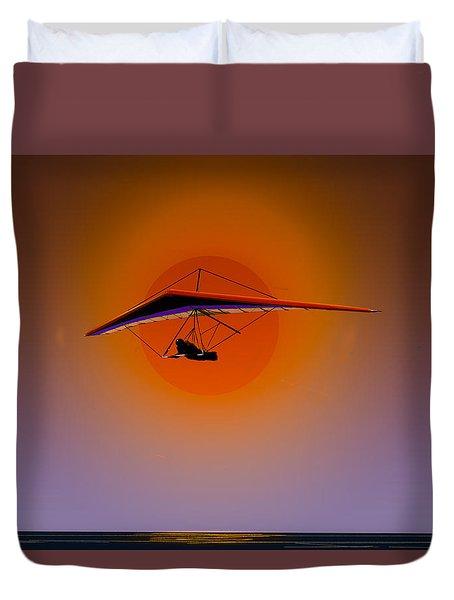La Jolla Evening Duvet Cover by J Griff Griffin