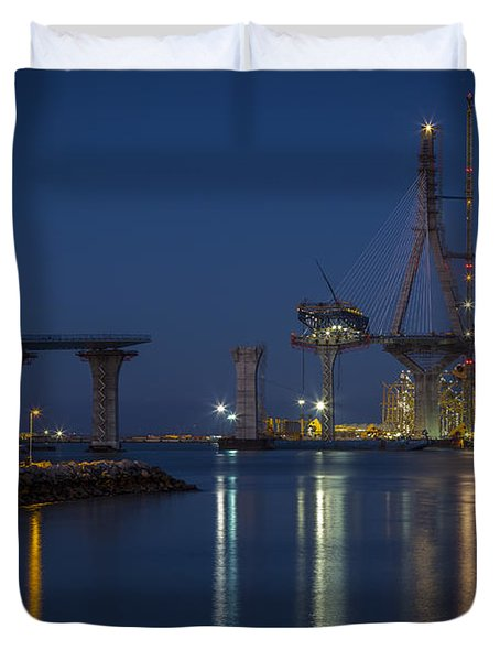 La Pepa Bridge Cadiz Spain Duvet Cover by Pablo Avanzini