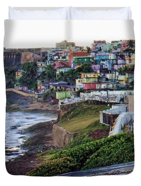 Duvet Cover featuring the photograph La Perla by Daniel Sheldon