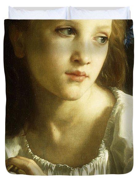 La Petite Ophelie Duvet Cover by William Adolphe Bouguereau