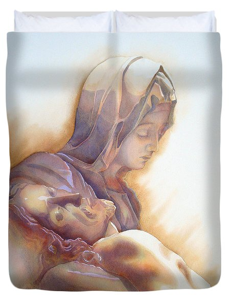 La Pieta By Michelangelo Duvet Cover