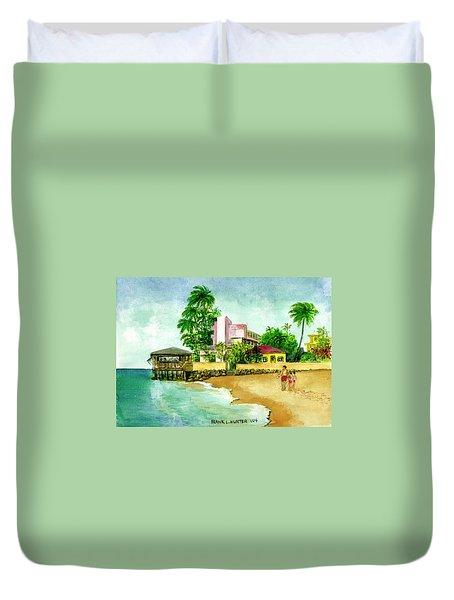 La Playa Hotel Isla Verde Puerto Rico Duvet Cover by Frank Hunter
