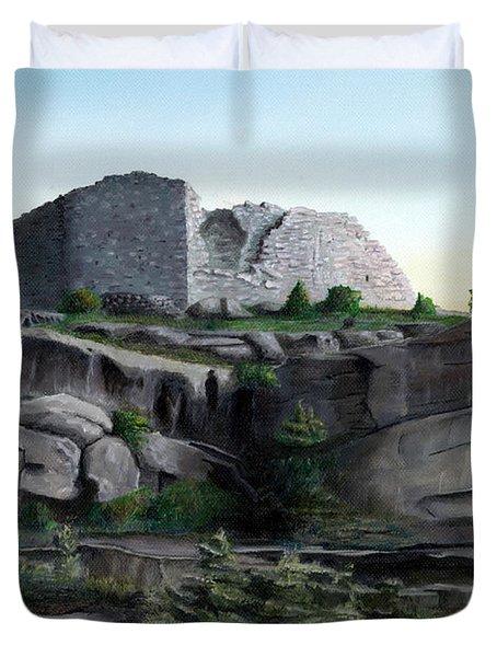 La Rocca De Monte Calvo Duvet Cover