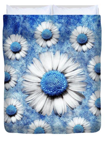 La Ronde Des Marguerites - Blue V05 Duvet Cover by Variance Collections