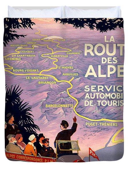 La Route Des Alpes Duvet Cover