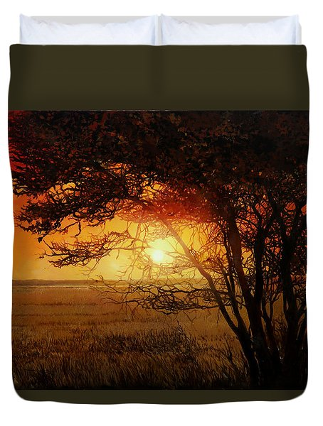 La Savana Al Tramonto Duvet Cover by Guido Borelli