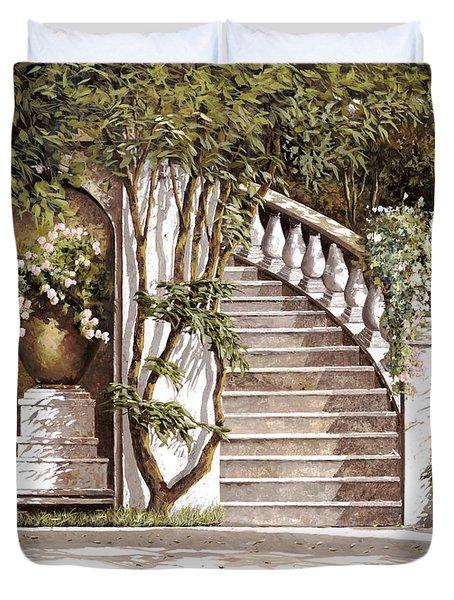 La Scalinata Duvet Cover by Guido Borelli