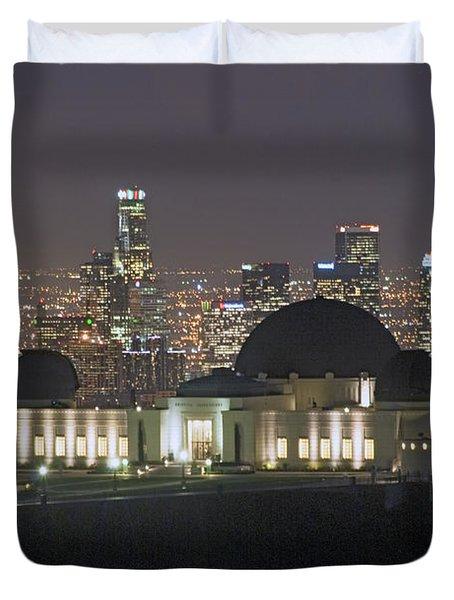 L.a. Skyline Duvet Cover