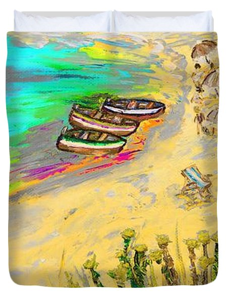 La Spiaggia Duvet Cover by Loredana Messina