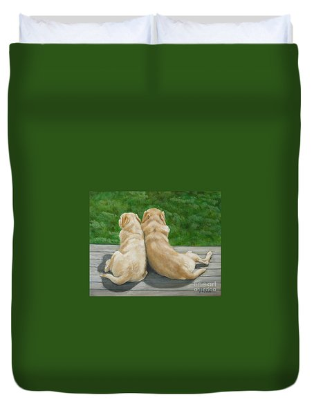 Labrador Lazy Afternoon Duvet Cover